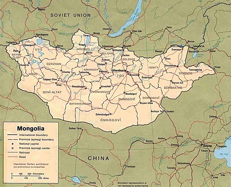 Mongoliska städer