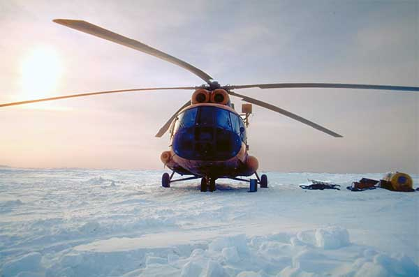 Elicottero Russo : Immagini dal polo nord