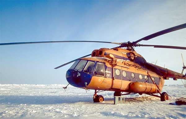 Elicottero Trasporto : Immagini dal polo nord